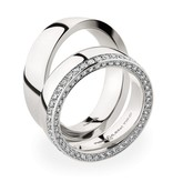 Christian Bauer Wedding Rings 950 Platina 88 Brilliants