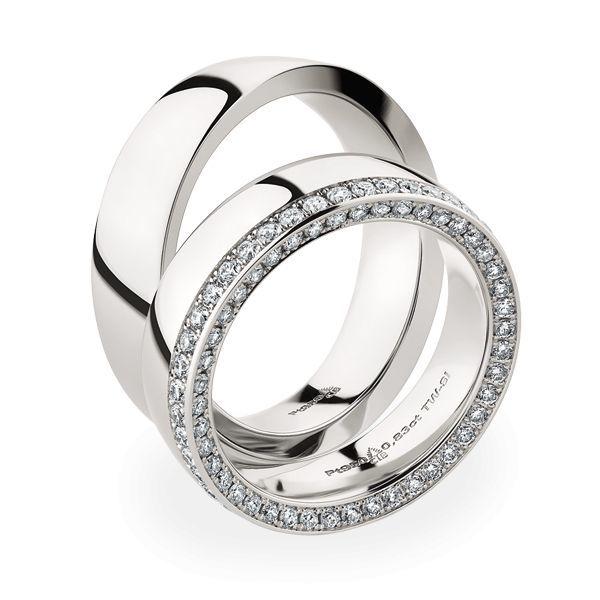 Wedding Rings 950 Platina 88 Brilliants