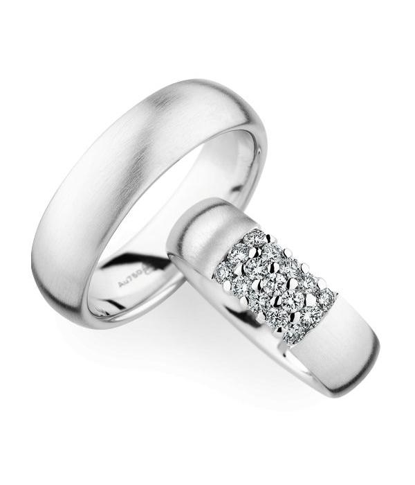 Christian Bauer Wedding Rings 18 Carat White Gold 15 Brilliants