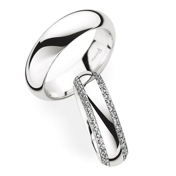 Wedding Rings 950 Platina 82 Brilliants