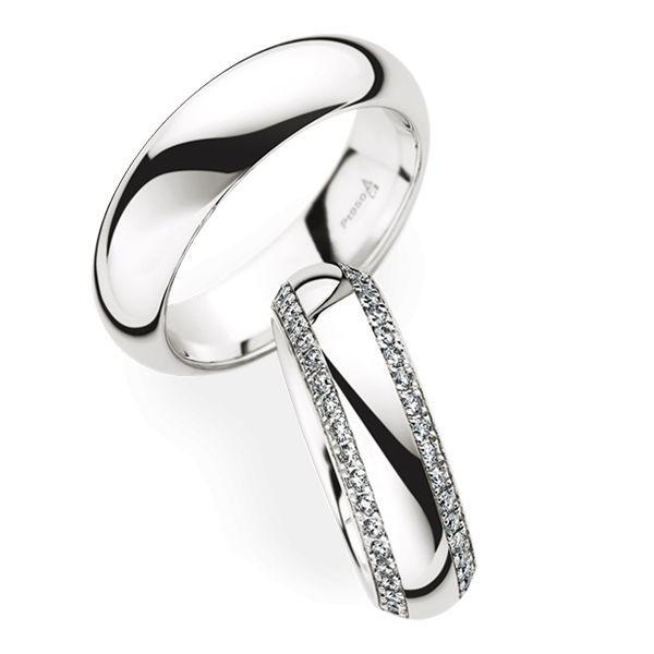 Wedding Rings 950 Platina 82 Brilliants