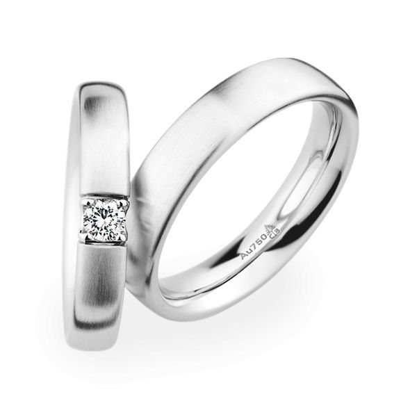 Wedding Rings 18 Carat White Gold 1 Brilliant