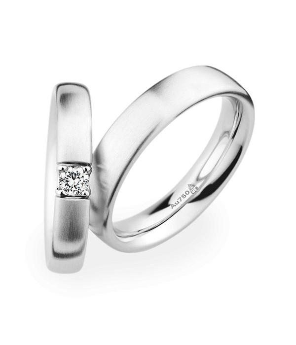 Christian Bauer Wedding Rings 18 Carat White Gold 1 Brilliant