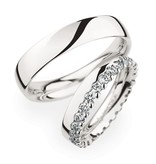 Christian Bauer Wedding Rings 950 Platina 28 Brilliants
