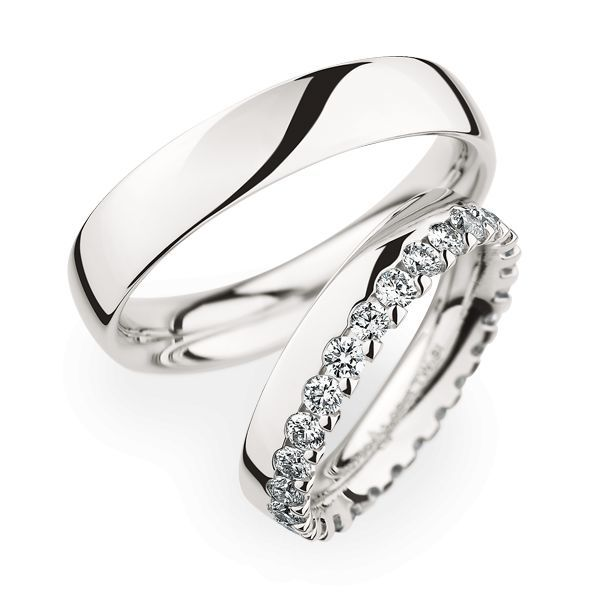 Wedding Rings 950 Platina 28 Brilliants