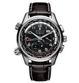 Zenith Pilot Chronograph Doublematic Horloge Staal  Zwart / Alligatorleder