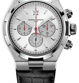 Vacheron Constantin Overseas Chronograph Horloge Staal / Zilver / Alligatorleder