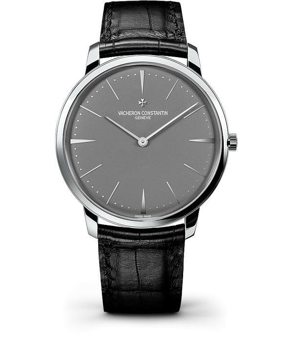 Vacheron Constantin Patrimony LM Horloge Platina / Grijs / Alligatorleder