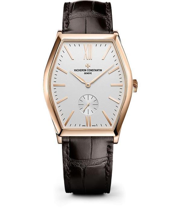 Vacheron Constantin Malte Horloge Roségoud Zilver / Alligatorleder