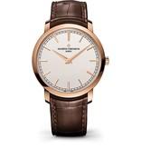 Vacheron Constantin Patrimony Traditionelle Horloge Roségoud / Opaal / Alligatorleder