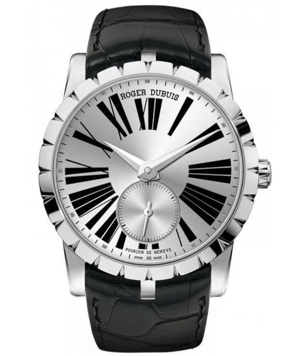 Roger Dubuis Exalibur 36mm Horloge Staal Zilver / Alligatorleder