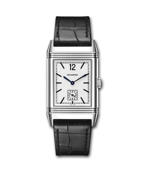 Jaeger-LeCoultre Grande Reverso 1931 Horloge Witgoud / Zilver / Crocoleder