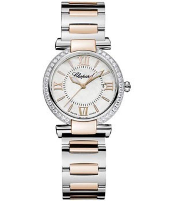 Chopard Imperiale 28mm Horloge Staal / Roségoud / Parelmoer / Diamanten