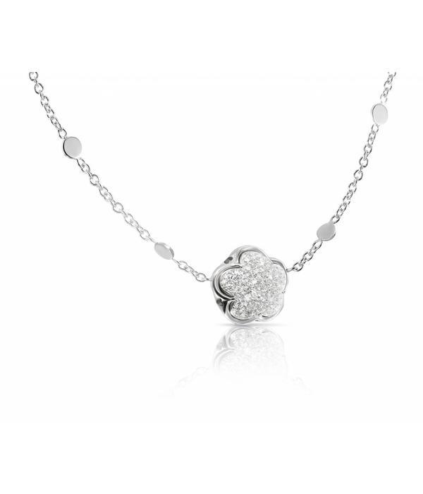 Pasquale Bruni Bon Ton Necklace Diamond Top Wesselton (G) White Gold 18K pave