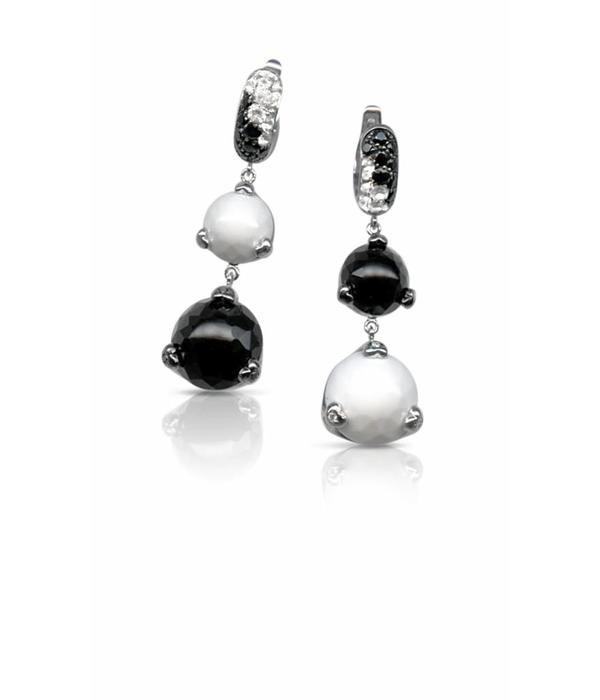 Pasquale Bruni Sissi Earring Drops Black/White Diamond 18K White Gold / Onyx Kogolong