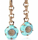 Pasquale Bruni Bon Ton Earring Drops 18K Rose Gold with Blue Topaz