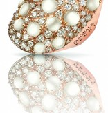 Pasquale Bruni Mandala Ring Brown/White Diamond 18K Rose Gold with Mother of Pearl