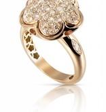 Pasquale Bruni Bon Ton Ring Diamond Top Wesselton (G) Rose Gold 18K pave