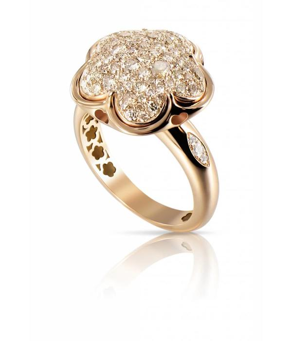 Pasquale Bruni Bon Ton Ring Diamond Top Wesselton (G) Rose Gold 18K pave