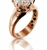 Pasquale Bruni Sissi Ring Diamond Top Wesselton Rose Gold 18K pave