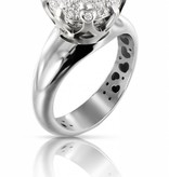 Pasquale Bruni Sissi Ring Diamond Top Wesselton  White Gold 18K pave
