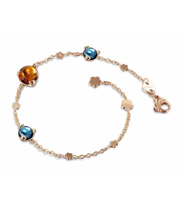 Pasquale Bruni Sissi in Fiore Armband 18K Roségoud madeira kwarts/london topaas