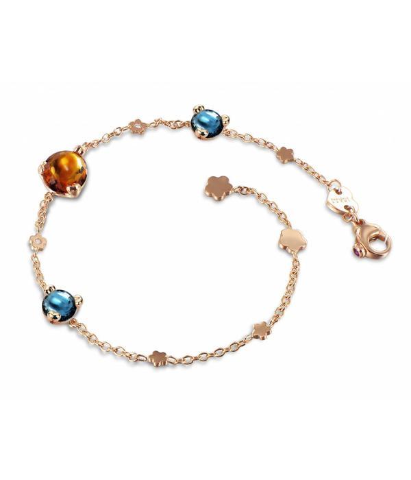Pasquale Bruni Sissi in Fiore Bracelet 18K Rose Gold madeira kwarts/london Topaz