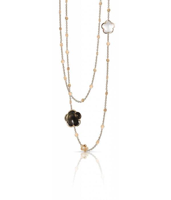 Pasquale Bruni Bon Ton Necklace 18K Rose Gold rookkwarts / melkkwarts