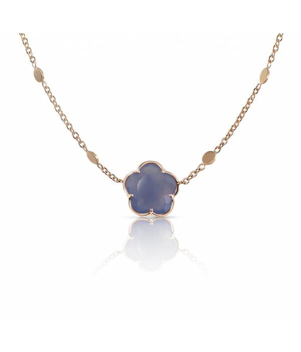 Pasquale Bruni Bon Ton Necklace 18K  Rose Gold chalcedoon Purple