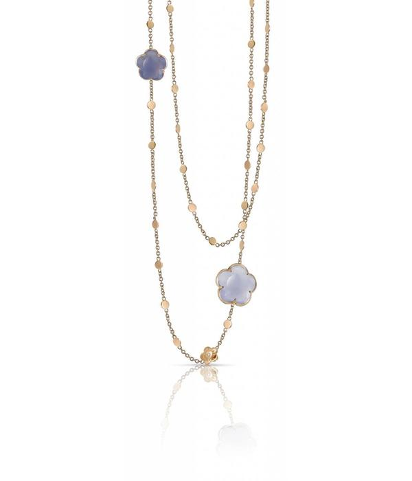 Pasquale Bruni Bon Ton Necklace 18K Rose Gold chalcedoon lila