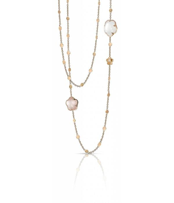 Pasquale Bruni Bon Ton Necklace 18K Rose Gold Pink Quartz