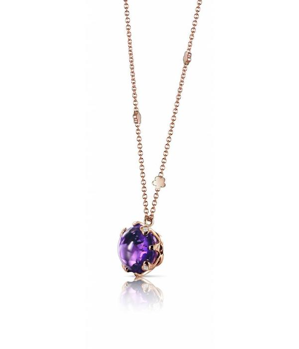 Pasquale Bruni Sissi Necklace 18K Rose Gold amethist
