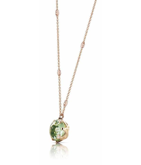 Pasquale Bruni Sissi Necklace 18K Rose Gold prasioliet