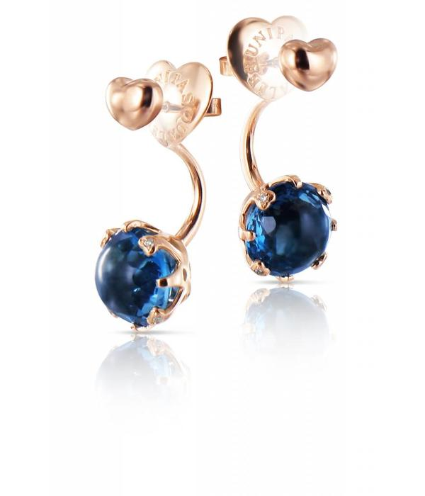 Pasquale Bruni Sissi Earring Studs 18K Rose Gold london Topaz