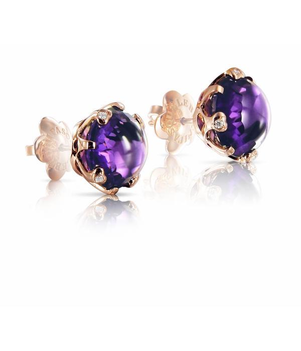 Pasquale Bruni Sissi Earring Studs Gold 18k Rose Gold amethist
