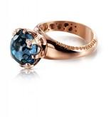 Pasquale Bruni Sissi io Amo Ring 18K Rose Gold london Topaz
