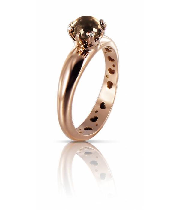 Pasquale Bruni Sissi io Amo Ring Gold 18K Rose Gold rookkwarts