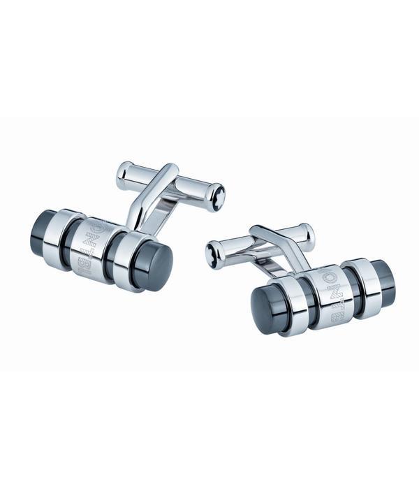 Montblanc Silver Collection Manchetknopen Zilver manchetknopen staaf 3 ringen