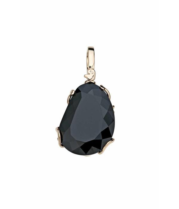 Chantecler Rose Gold 18 carat Diamour Folies Pendant with Black Jade