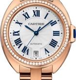 Cartier Cle de Cartier 35mm Horloge Roségoud / Zilver / Roségoud