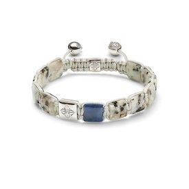 Shamballa Armband 18K Witgoud / Dusty White