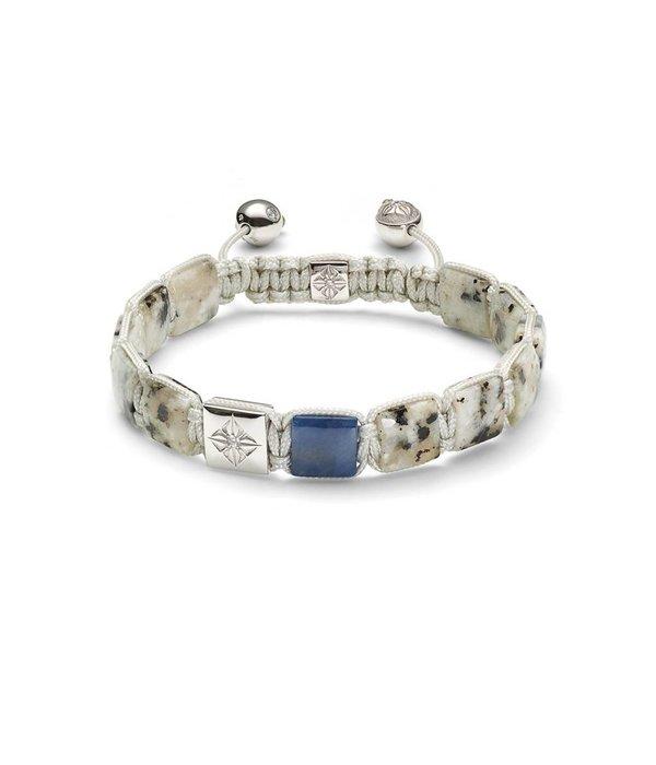 Shamballa Bracelet 18 Carat White Gold / Dusty White