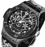 Hublot Big Bang Broderie Steel 41mm Staal / Carbon / Rubber