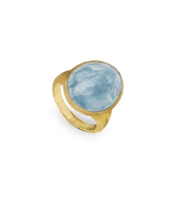 Marco Bicego Ring Lunaria with Aquamarine