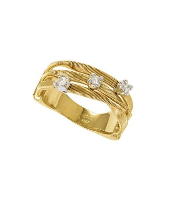Marco Bicego Marrakech 18K Yellow Gold 3 Rows Ring