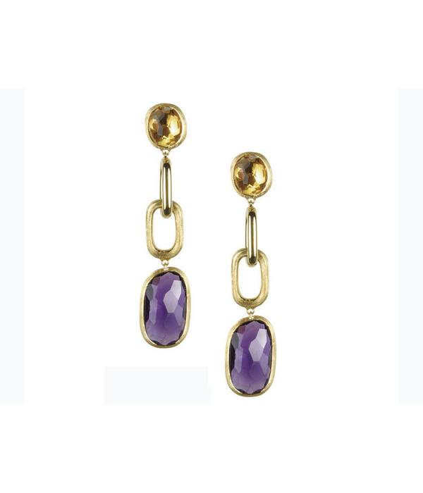 Marco Bicego Murano 18K Yellow Gold with Amethist Earring Drops