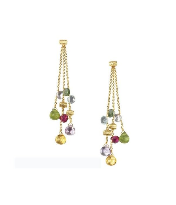 Marco Bicego Paradise 18K Yellow Gold 3 Rows Earring Drops