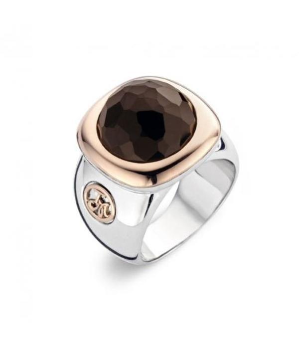 Tirisi Moda Smoky Quartz / Rose Gold Ring