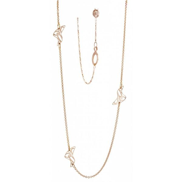 18K Rose Gold Life is a Beach Necklace