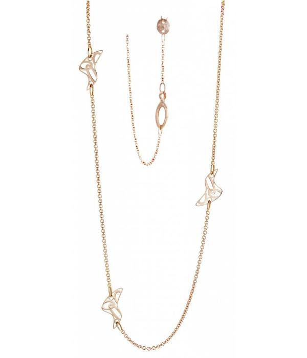 Tirisi Moda 18K Rose Gold Life is a Beach Necklace